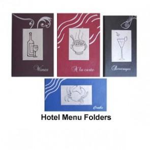 Hotel Menu Folders
