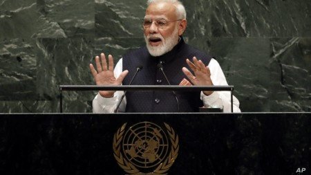 Modi Tells UN India Launching Campaign to Stamp Out Single-Use Plastic
