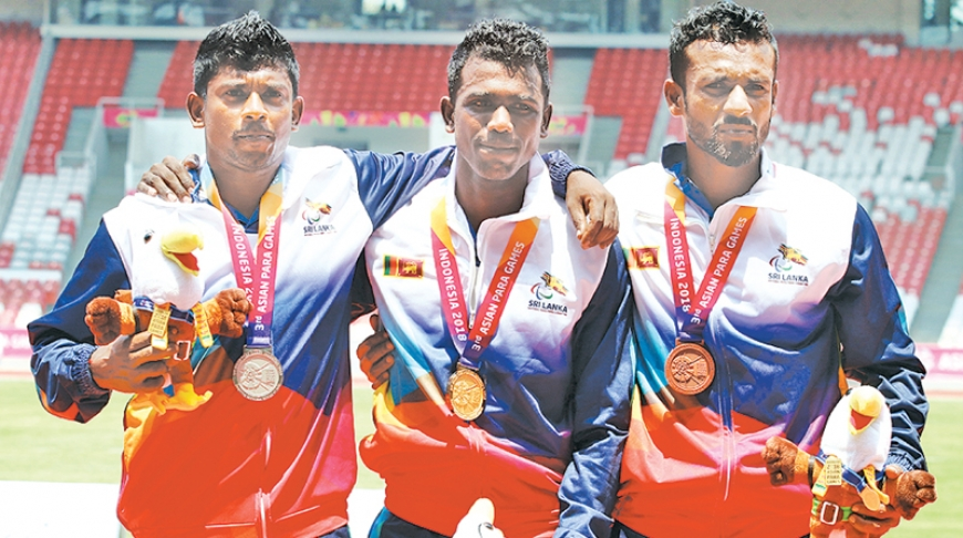 Sri Lanka make clean sweep in men's 200m event