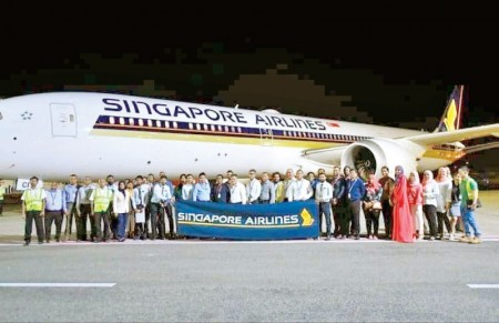SriLankan Engineering certifies 'Singapore Airlines' first Boeing 787 operated to Malé