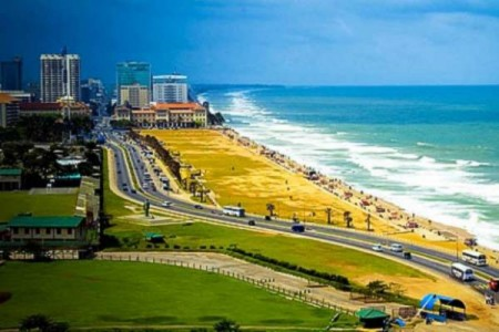 Galle Face Green development project gets underway.